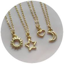 star friendship necklace images Gold sun moon heart or star necklace friendship necklaces for jpg