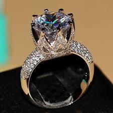 crystal diamond rings images Crystal wedding rings jpg