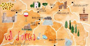 Montepulciano Italy Map by I Diari Della Lambretta Vintage Tour In Val D U0027orcia