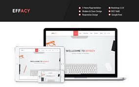 effacy free bootstrap one page portfolio template graygrids