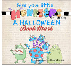 Halloween Birthday Party Favors It U0027s Written On The Wall 12 Halloween Book Marks Party Favor For