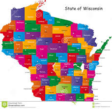Map Of Wisconsin by State Of Wisconsin Royalty Free Stock Photography Image 9386617