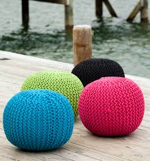 outdoor crochet poufs all things summer pinterest poufs