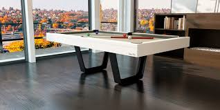 Pool Dining Table by Pool Dining Tables With Modern White And Gray Color With Wooden