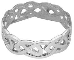 celtic wedding ring 10k white gold celtic wedding band knot