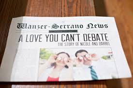 Newspaper Wedding Program Wedding Day Necessities Significant Events Of Texas U2013 Event