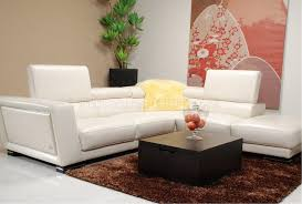 Modern Leather Sectional Sofa 5166 White Leather Sectional Sofa By J U0026m W Adjustable Headrests