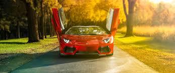 Lamborghini Aventador Front View - download 2580x1080 lamborghini aventador red front view