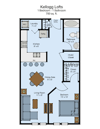 kellogg lofts 1 bed
