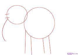 how to draw a cartoon elephant step by step cartoon animals