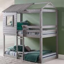 donco kids twin over twin bunk bed u0026 reviews wayfair
