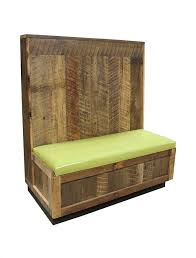 these booths are built using wood taken from barns in the