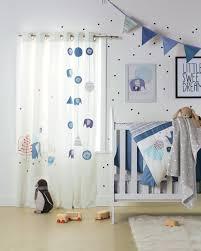 rideau chambre bébé rideaux blue safari chambre bébé babyspace vertbaudet fr