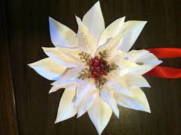 paper flower poinsettia ornament 8