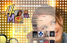 hannah montana miley cyrus myspace layout free myspace layouts