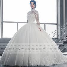 aliexpress com buy elegant hijab wedding dress 2017 high neck