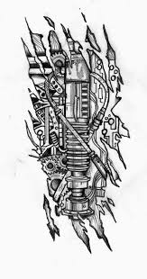 tattoo design bio mechanical suspension 3d tattoo designs sketch
