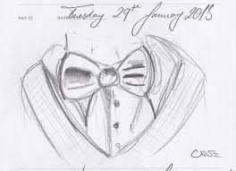 day 17 sketch a day 11th doctor bowtie by carolinatenorio on