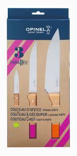 wholesale kitchen knives trio box 3 parallèle pop knives opinel usa