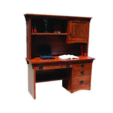 Mission Style Computer Desk With Hutch by Desks