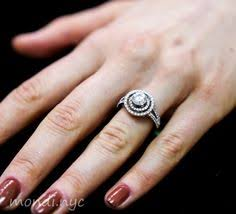 1 carat halo engagement ring 1 carat chocolate color brown floating halo engagement