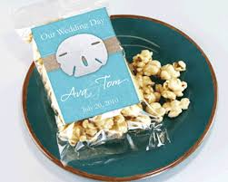 popcorn wedding favors personalized themed caramel popcorn wedding favors my
