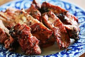 grilled spicy citrus ribs with bourbon glaze recipe