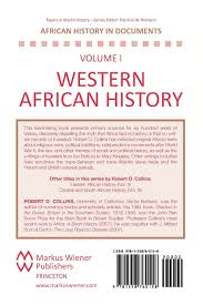 western african history selected course outlines and reading