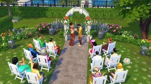 wedding arches in sims 4 plan a wedding in center park in the sims 4 city living