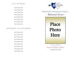 Funeral Ceremony Program 10 Best Images Of Free Sample Memorial Service Template Memorial