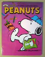 peanuts coloring book snoopy ebay