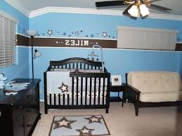 baby boy sports bedroom ideas dark wooden lacquer white storage