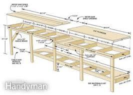 table saw workbench plans modular workbench family handyman
