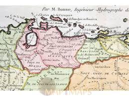Map Of Venezuela Caribbean Island Off The Coast Of Venezuela Bonne Map M U0026m