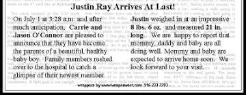 baby announcement wording news paper birth announcement paso evolist co