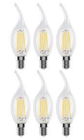 c35l e12 led filament edison style flame tip light bulb 4 watt