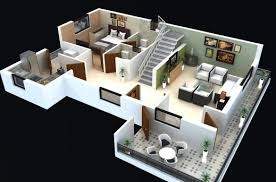 2 floor house plans 2 floor 3d house design plan house floor plans