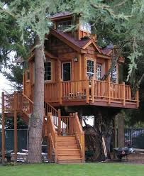 Large Cabin Plans Home Treehouse Kits For Sale Real Tree Houses Tree House Plans