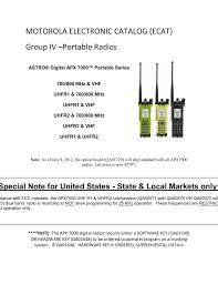 motorola electronic catalog ecat group iv u2013portable