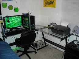 Large L Shaped Desk Minimalist L Shaped Modern Glass Desk Furniture Penaime