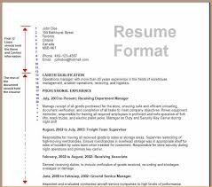 sample of resume in canada resume for a job application