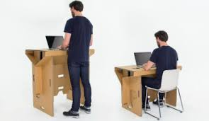 Cubicle Standing Desk The Refold Cardboard Standing Desk Could Make You Rethink The Cubicle