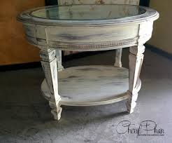 round distressed end table distressed table faux finish decorative painting west palm