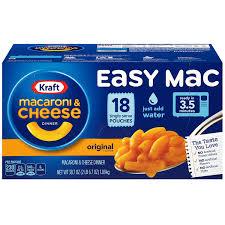 amazon com kraft easy mac original macaroni and cheese dinner 18