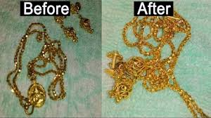 how to clean gold jewellery at home clean shine gold chain