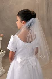 1st communion veils communion veil single tier with crystals bridal wedding