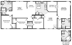 four bedroom floor plans 4 bedroom house floor plans home design ideas