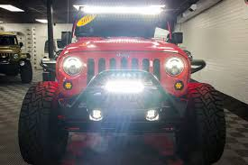 jeep lights on top 2017 jeep wrangler rubicon unlimited firecracker red