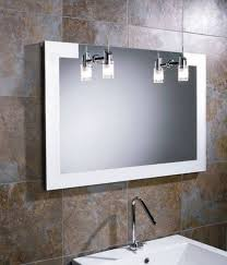 Led Light Mirror Bathroom Bathroom Mirrors Halo Wide Led Light Bathroom Mirror Light
