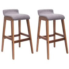 amazon com costway set of 2 bentwood bar stools counter height